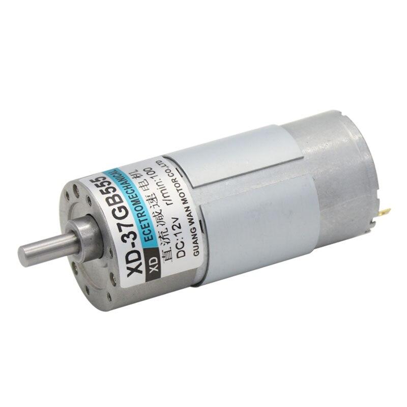 37GB555, 12 V/24 V motorreductor miniatura de CC, velocidad Variable lenta, engranaje pequeño, engranaje lento, Motor pequeño, CW/CCW