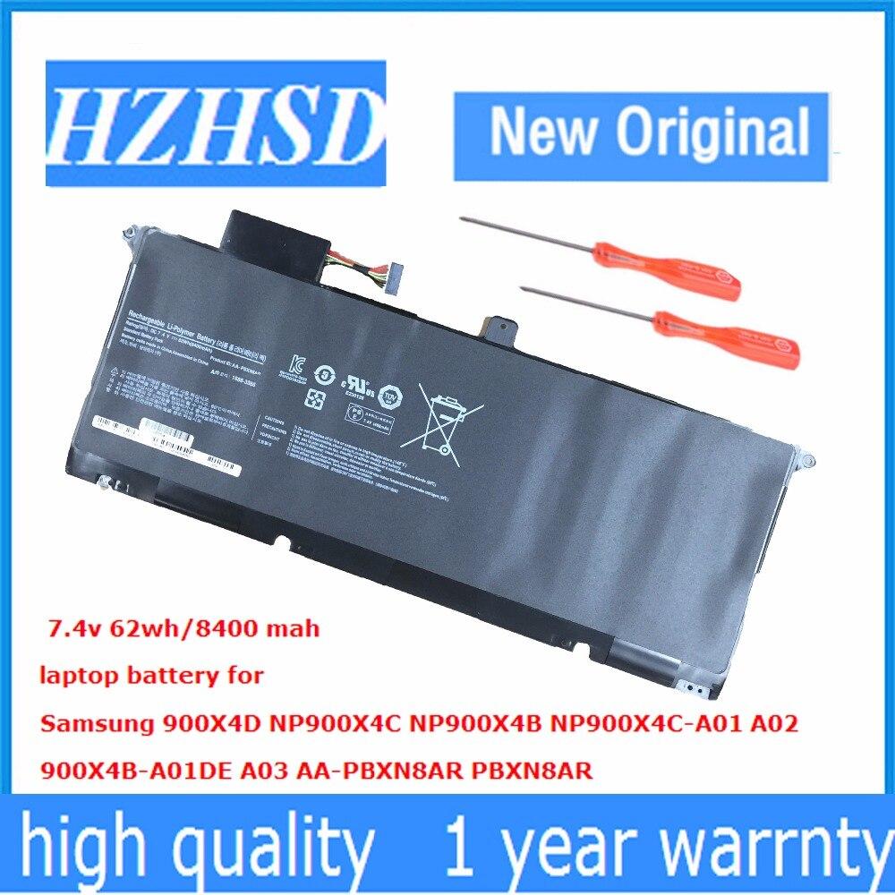 7,4 В 62Wh Новый AA-PBXN8AR Аккумулятор для ноутбука Samsung 900X4D NP900X4C NP900X4B NP900X4C-A01 A02 900X4B-A01DE A03