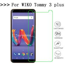 HD 9H Film Ultrathin Tempered Glass For Wiko Tommy 3 plus Screen Protector Phone Cover Q
