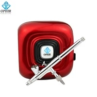 ophir professional makeup airbrush kit with red mini air compressor 0 2mm airbrush sprayer for cosmetic_ac123rac073