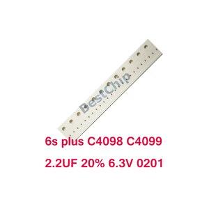 20pcs-100pcs/lot C4098 C4099 for iPhone 6s plus 6splus back light capacitor ic chip 2.2UF 20% 6.3V