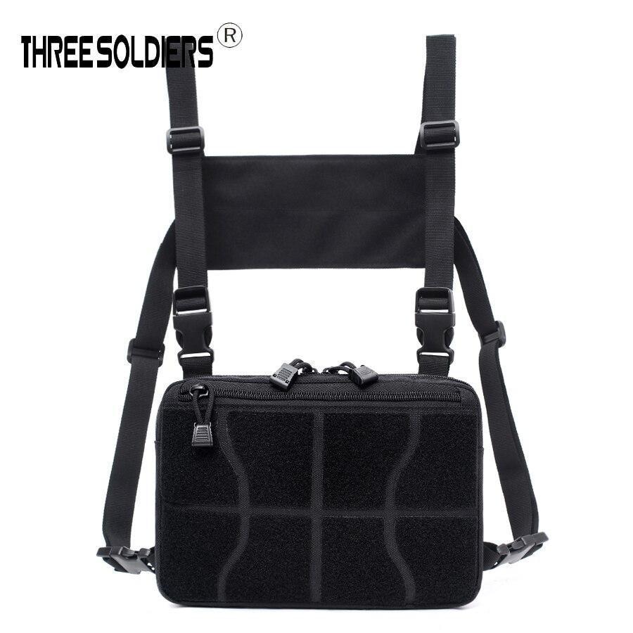 Men Chest Bag Adjustable nylon Tactical Chest Rig Hip Hop Streetwear Functional Tactical Military Chest Bag Waist Packs Unisex