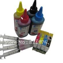 73 73N T0731N reillable tinte patrone für epson Stylus T13 TX121 C79 C90 C92 C110 CX3900 CX4900 CX5500 CX5600 + 400 ml dye tinte