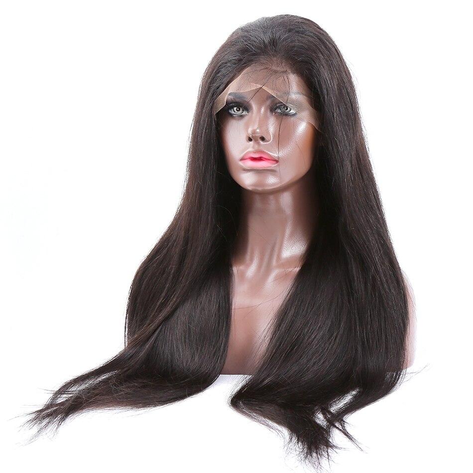 Links Hair 360 pelucas frontales de encaje prearrancadas con pelo de bebé pelo humano Remy brasileño liso pelucas frontales de encaje de 10-24 pulgadas