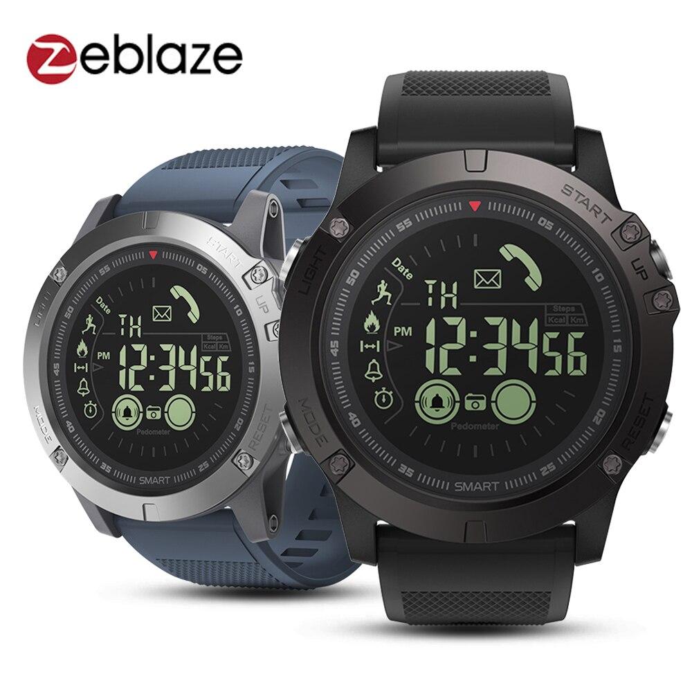 Zeblaze VIBE 3 reloj inteligente impermeable vida pulsera con podómetro y Bluetooth alarma cronómetro Larga modo de reposo Digital Reloj de los hombres