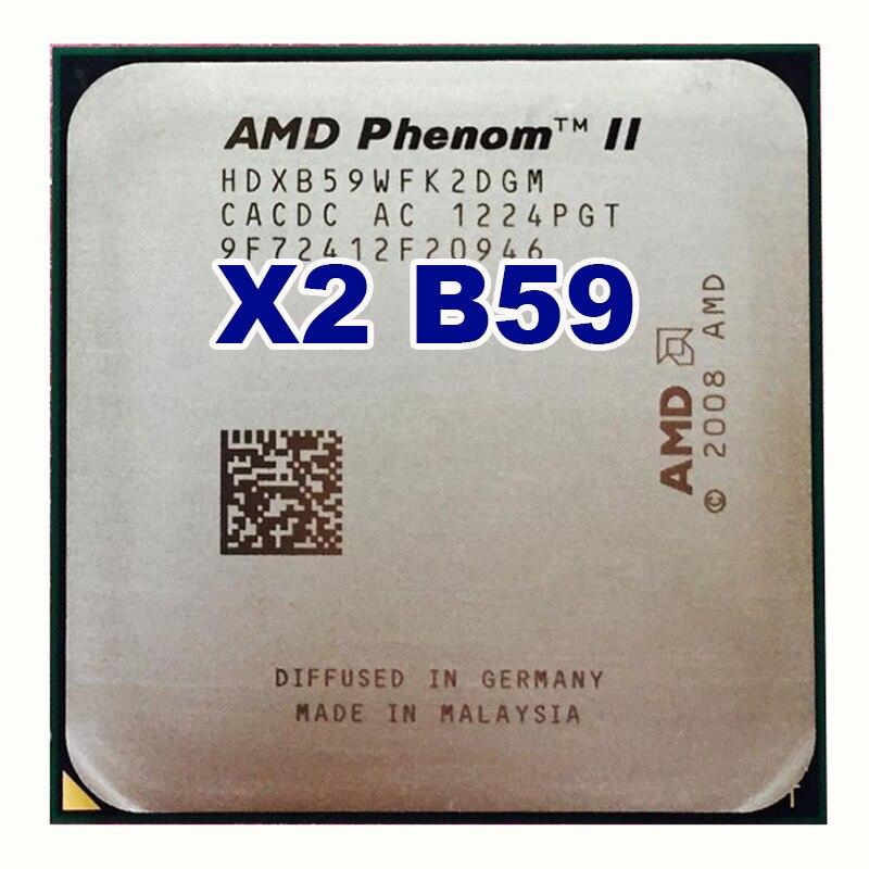 AMD-procesador de escritorio AMD Phenom II X2 B59, Original, 6M/3,4G/AM2 +/AM3, 95w