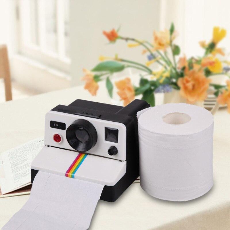 Cajas de papel con forma de cámara Polaroid de calidad Retro, rollo de papel para colgar creativo, soporte de almacenamiento, arte decorativo para baño o baño