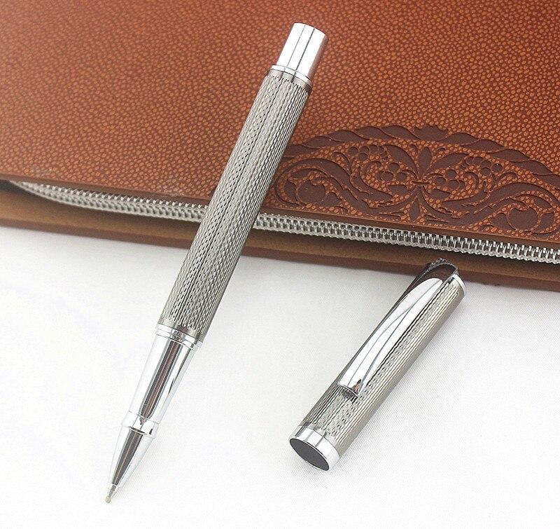 AliExpress - Metal mesh gray 0.5mm Metal Roller Ball Pen Luxury Ballpoint Pens Business Office Writing Gift