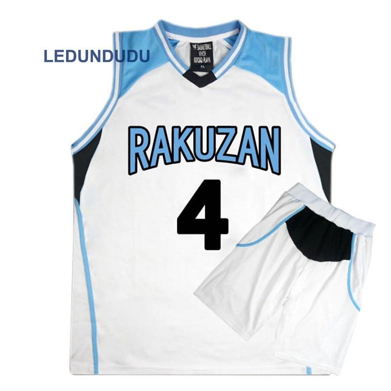 Anime Kuroko no Basuke Basket Cosplay Rakuzan School Uniforms Akashi Seijuro Men Jersey Sportswear T