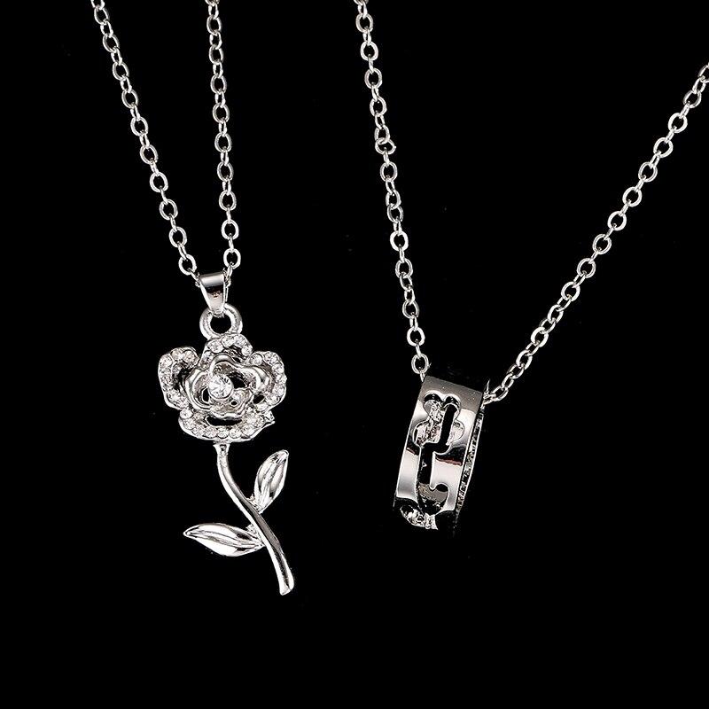 Emmaya дешево 2 шт./компл. модное ожерелье с подвеской Лидер продаж ожерелья с цветами белого золота для влюбленных заводская цена