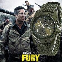 Nieuwe Mannen Militaire Army Bomber Pilot Canvas Strap Sport Mannen Boy Quartz Horloge Analoge Mannen Jurk Sport Horloges reloj