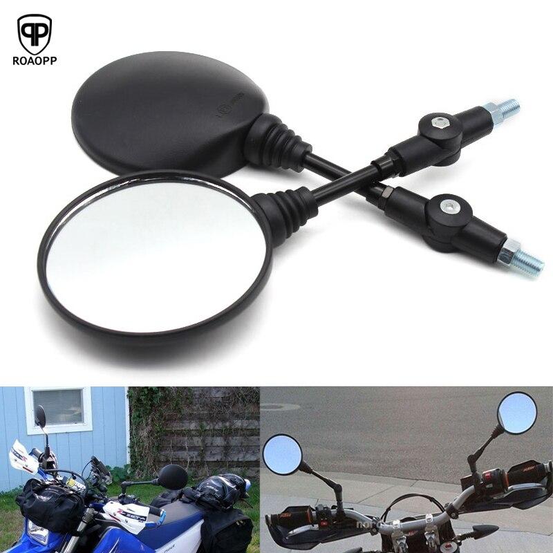 ROAOPP Motorcycle Rear Mirrors For Honda XLR125 XLR200 XR250 XR400 XL250 XLR250 AX-1 250 CRM250 CRM250AR 400 NX650 XR650L XR650R