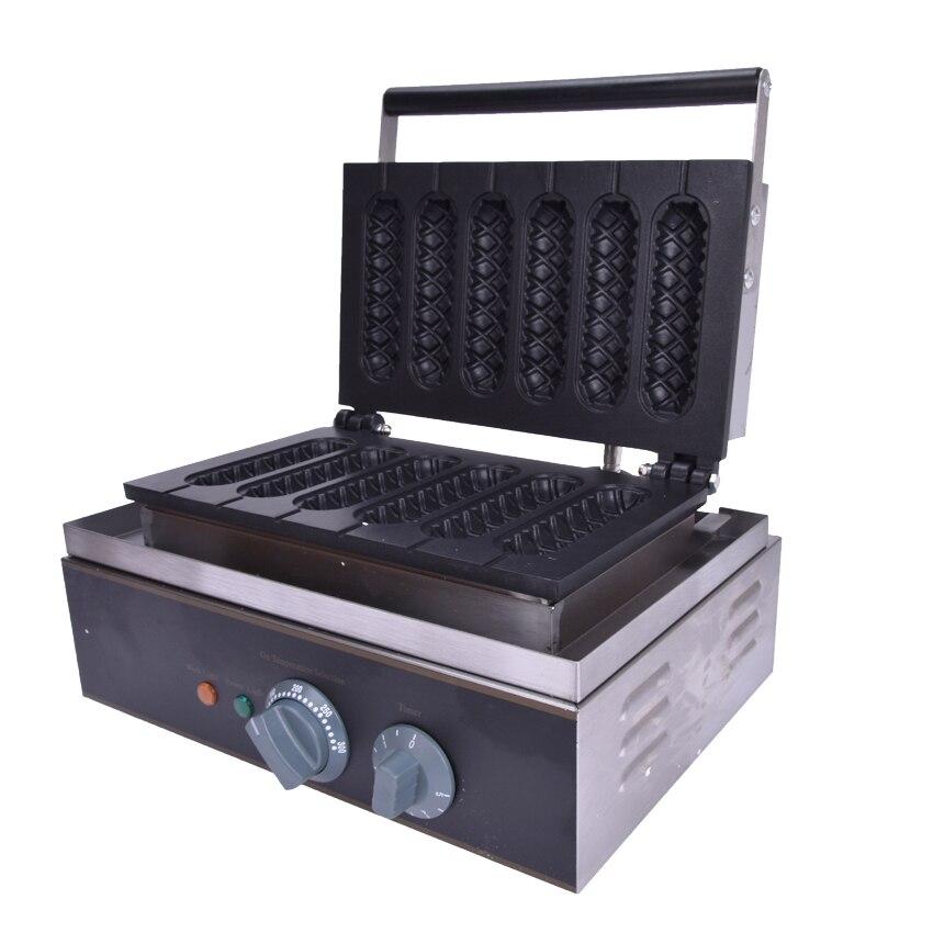 1 قطعة FY-119 الكعك الساخن الكلب machine_crispy شريط machine_corn شكل الخبز machine_muffin هوت دوج قضبان ستة ، هش آلة