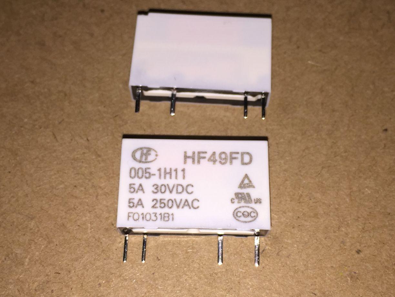 50 pcs lote reles de potencia hf49fd hf49fd 005 1h11 hf49fd 012 1h11 hf49fd 024 1h11