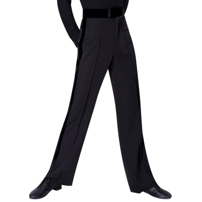 بنطلون رقص لاتيني للرجال ، ملابس رقص لاتينية ، مقاس كبير ، عصري ، أسود