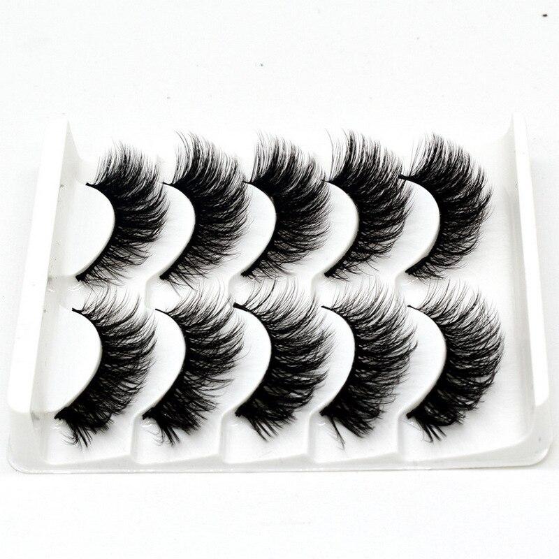 50 pares de pestañas de visón 3D pestañas de visón 100% libre de crueldad pestañas naturales reutilizables hechas a mano pestañas postizas populares maquillaje