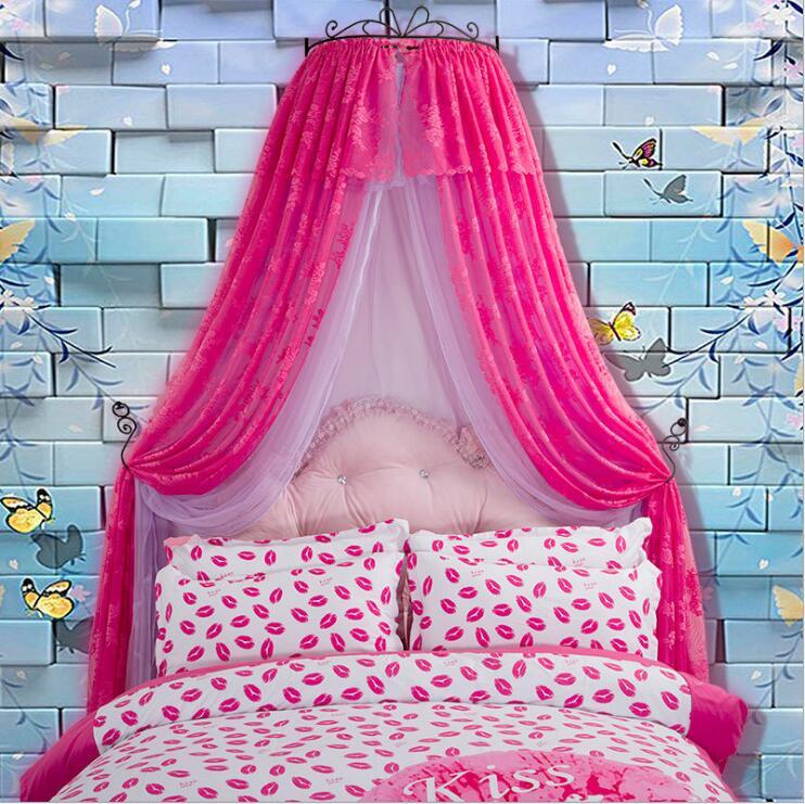 Новая роскошная сетка от комаров для дворца принцессы розовая накидка кровати