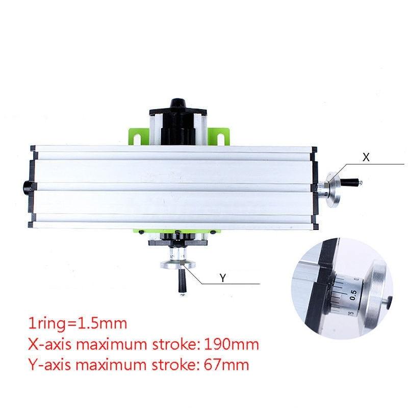 Ajuste de precisão Bancada X Y-Rota MINI Multifunções Máquina de Moagem Moleiro Banco Broca Vise Coordenar Mesa de Fixação DIY