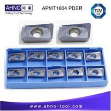 APMT1604 PDER M2 10 pcs/lot AHNO CNC outils de fraisage indexables en carbure Solide pour fraise BAP 400R et RAP75