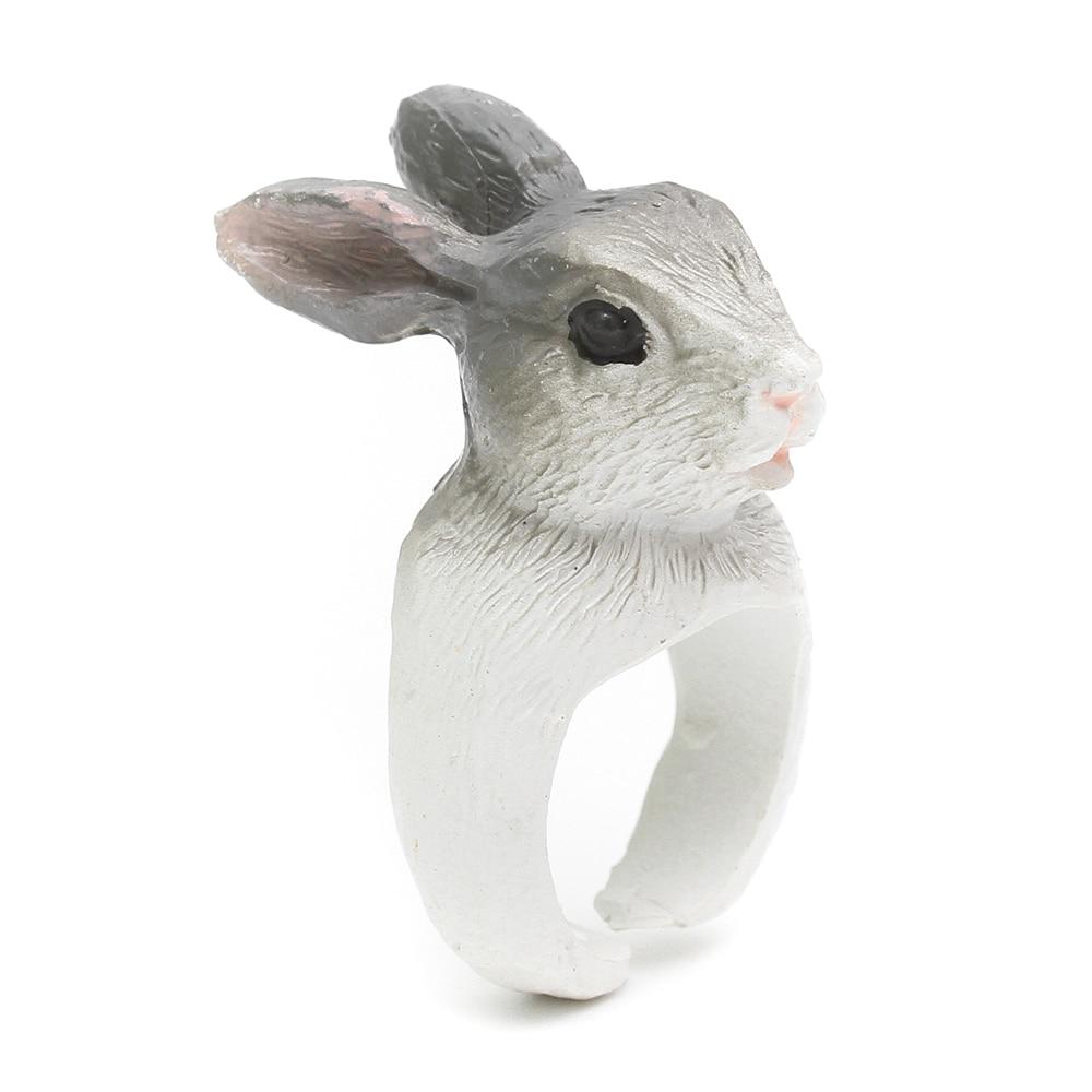 Кольца для животных YYW, 23 вида, обезьяна и лягушка, птицы, собаки, лисы, зайца, ежика, панды, для женщин и мужчин, милый мультипликационный 3D, открытые манжеты, кольцо для животных
