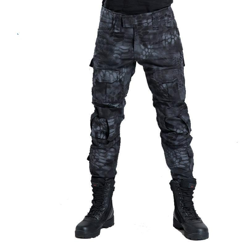 Pantalones militares de camuflaje Multicam ropa de caza ciega pantalones de camuflaje tácticos sin rodilleras pantalones de combate del ejército