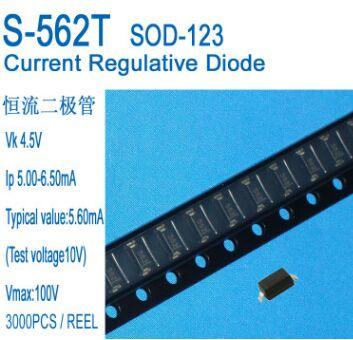 Frete grátis 50 pçs/lote Corrente Constante 5.6mA Diodo CRD S-562T SOD-123 IP 5.0-6.5MA