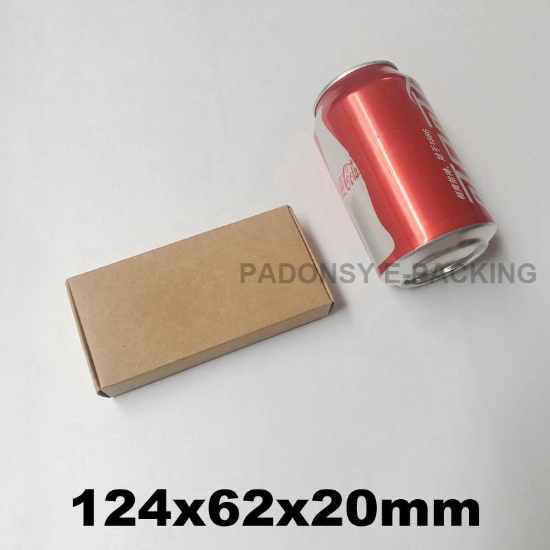50 Uds 12,4*6,2*2CM marrón Kraft caja de papel de caja de regalo...