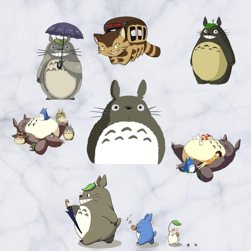 60 cm Bonito Tonari no Totoro Hayao Miyazaki Totoro Tronco Kawai Adesivo Efeito Visual 3D Papel De Parede do Modo de Trabalho Adesivos ST25