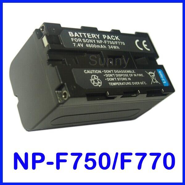 Batería para Sony NP-F750, NP-F770 serie InfoLITHIUM L y HDR-FX1, HDR-FX1E, DCR-VX2000,...