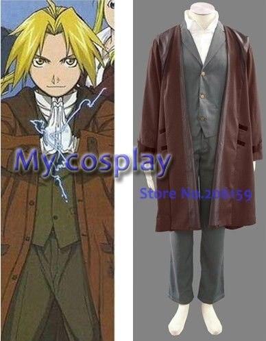 Men's Anime naruto character costumes Fullmetal Alchemist Edward Cosplay jaket Costume halloween costumes for men