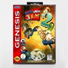 Earthworm Jim 2 16 Bit MD Game Card Include Retail Box For Sega Genesis & Mega Drive