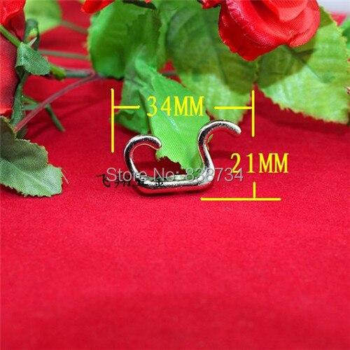 34 * 21 mm liga de zinco níquel tipo saco gancho para casaco