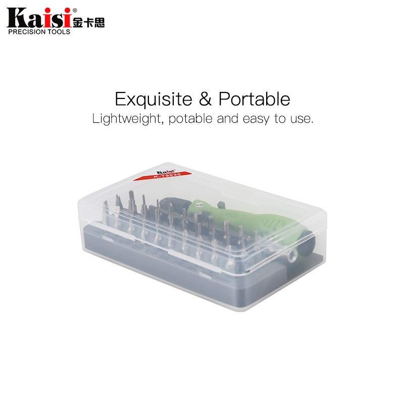Kaisi precisão chave de fenda magnética conjunto 32 pcs kit ferramenta de reparo para iphone/computador/eletrônica/laptops chave de fenda doméstica