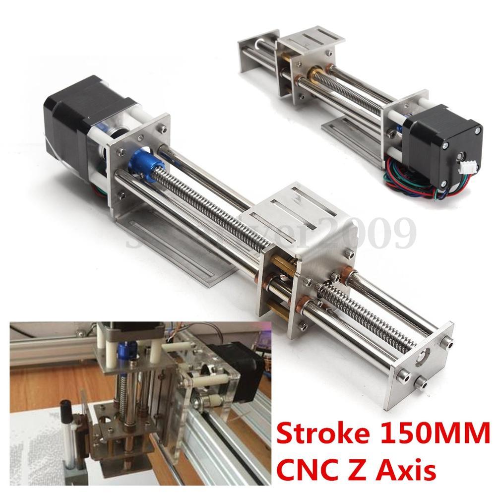 50mm/150mm Curso de Slides Z CNC Eixo de Movimento Linear De slides + Motor De Passo NEMA17 Para Reprap Gravura máquina