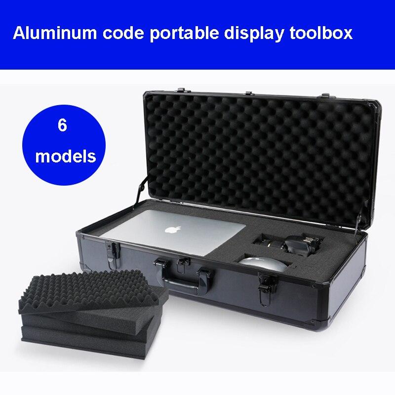 Алюминиевый Чехол для инструментов, чехол для инструментов, коробка для файлов, ударопрочный чехол для оборудования, чехол для камеры, коро... чехол