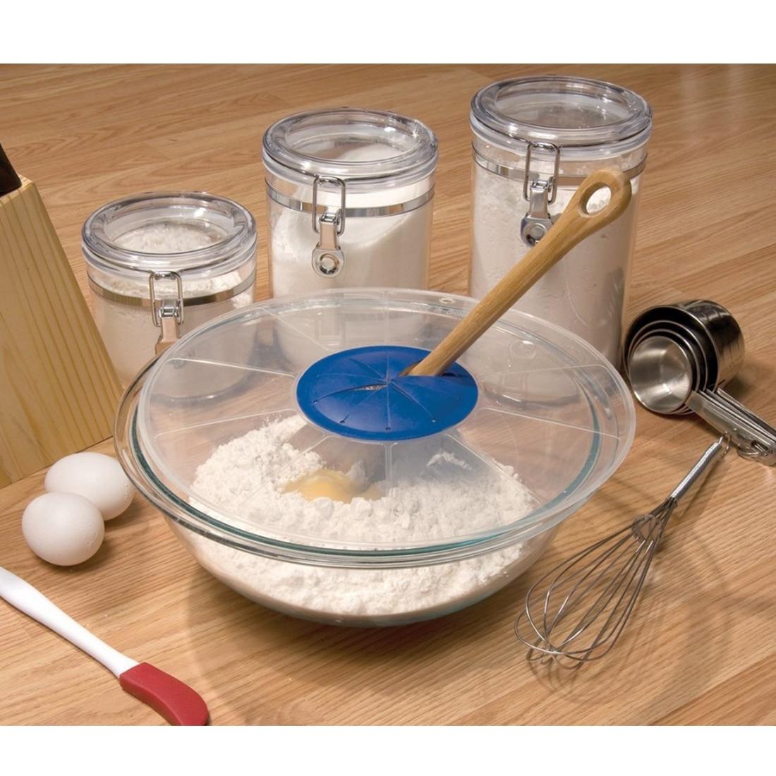 Silicone Splatter Screen Baking Mixing Bowl Guard Covers Pots Shields From Splatter Sprays Avoids Spill Random Color