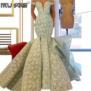 Off the Shoulder Evening Dresses Luxury Vestidos Prom Dress Muslim Arabic Dubai Kaftans Party Gowns Formal Pageant Gowns 2019