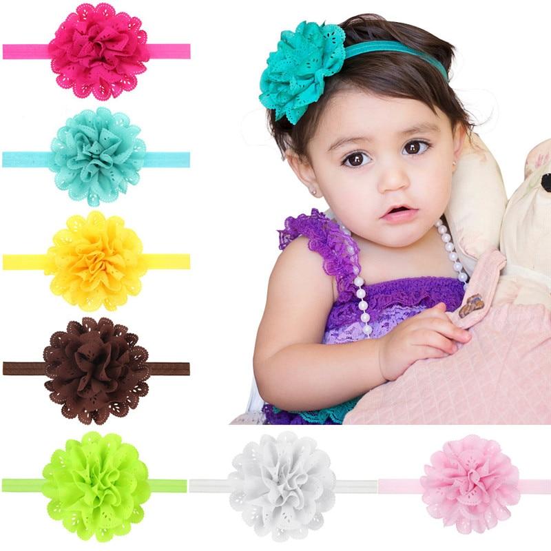 HD66 Bebé Acessórios Para o Cabelo Desgaste Do Partido Menina Flor Grande Elástico Hairbands Bonito Recém-nascidos Headbands Infantis bebê haarband TS14