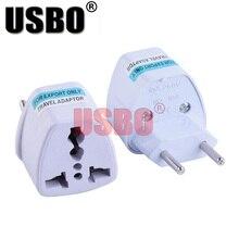 White 10A 250V Brazilian standard power adapter plug Italy Brazil Switzerland Argentina travel universal plug socket converter