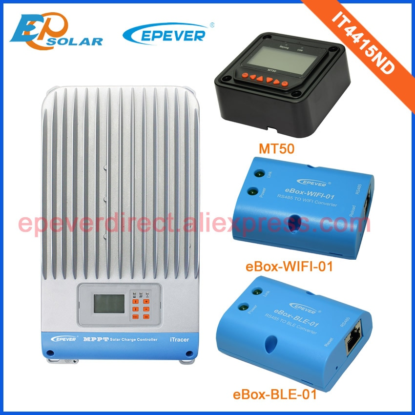 45A 45Amp Max Pv entrada 150v IT4415ND MPPT cargador de batería solar controlador con MT50 medidor remoto wifi y BLE