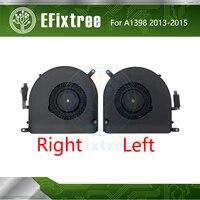 Original A1398 Fan Set CPU Cooling Fan Cooler Right Left 2013-2015 For Macbook Pro Retina 15'' Fans Cooler 923-0668 610-0191-04