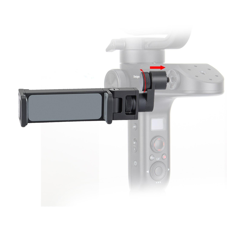 Envío Gratis Zhiyun Weebill laboratorio cardán clip de teléfono visor para iphone huawei todos los Smartphone Fijación de montura de trípode soporte para teléfono