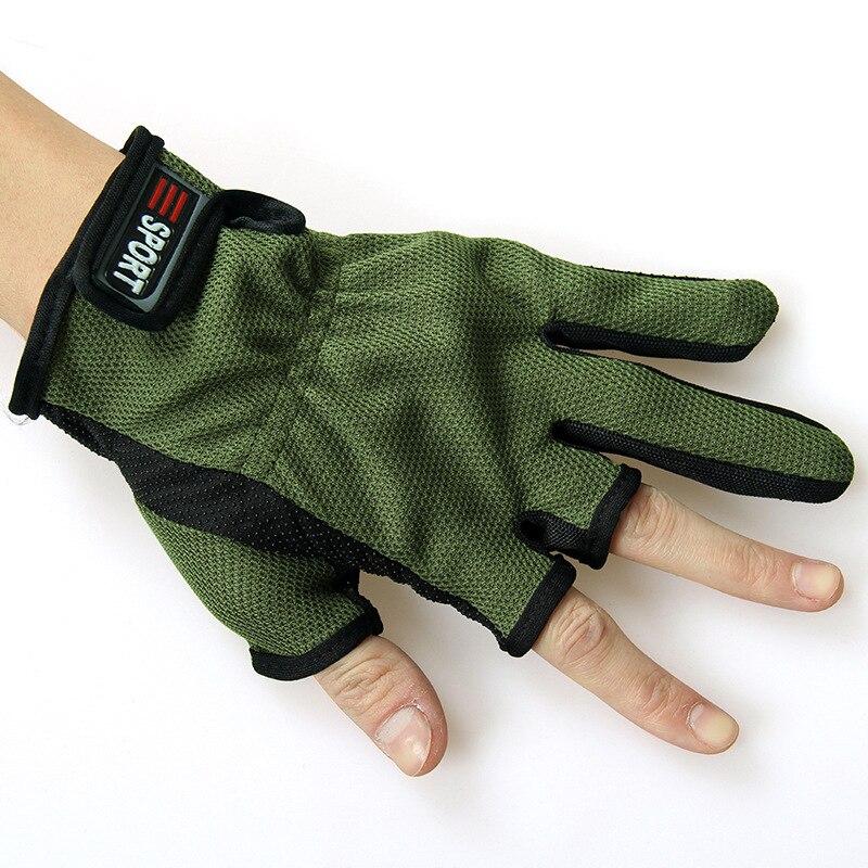 1 Pair Outdoor 3 Cut Glove Fingerless Exposed Men & Women Breathable Fishing Glove Anti Slip Sailboat Sailing Fishing