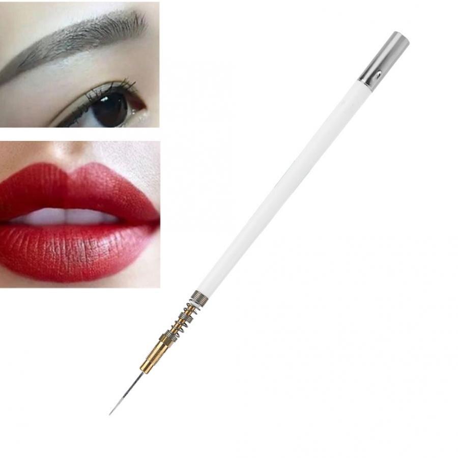 Pluma de Plasma semipermanente tatuaje Microblading Set Diaposable bolígrafo con muelle + agujas maquillaje
