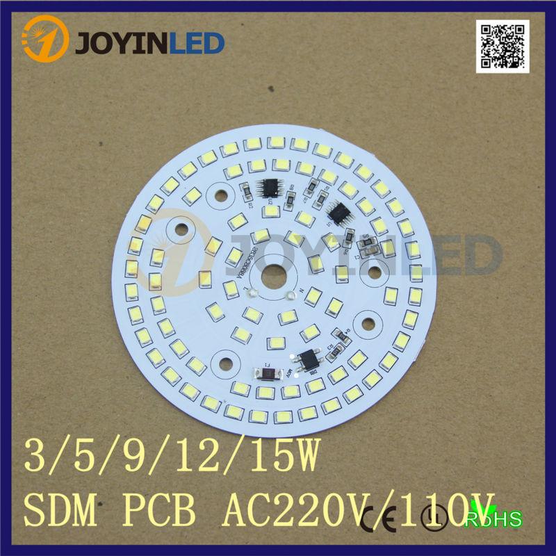 شحن مجاني 10 قطعة/الوحدة 220V عكس الضوء Led PCB رقاقة 2835 AC Led وحدة ل 18w لمبة النازل