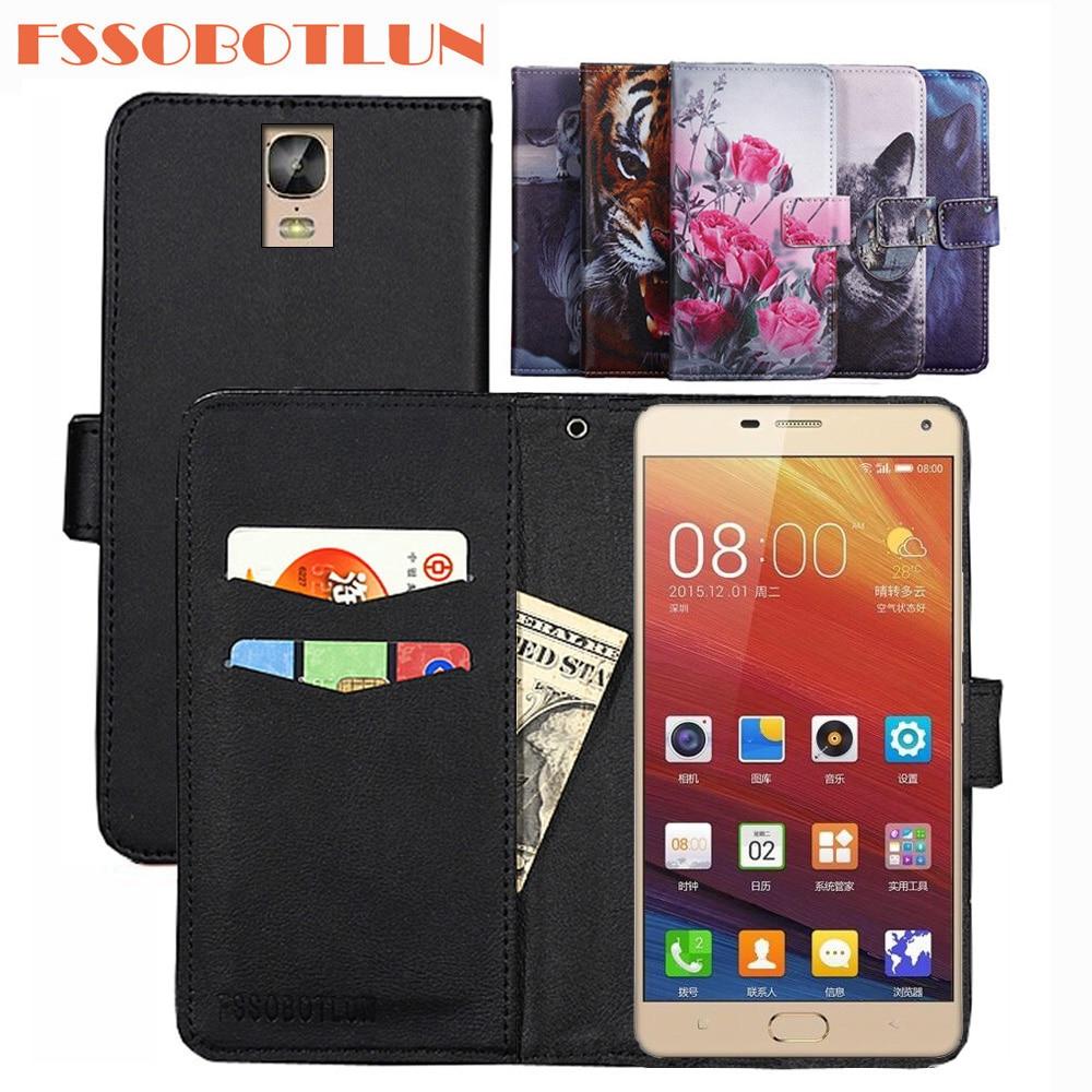 FSSOBOTLUN For Gionee Marathon M5 Plus Case PU Leather Retro Flip Cover Shell Magnetic Fashion Wallet Cases Kickstand Strap