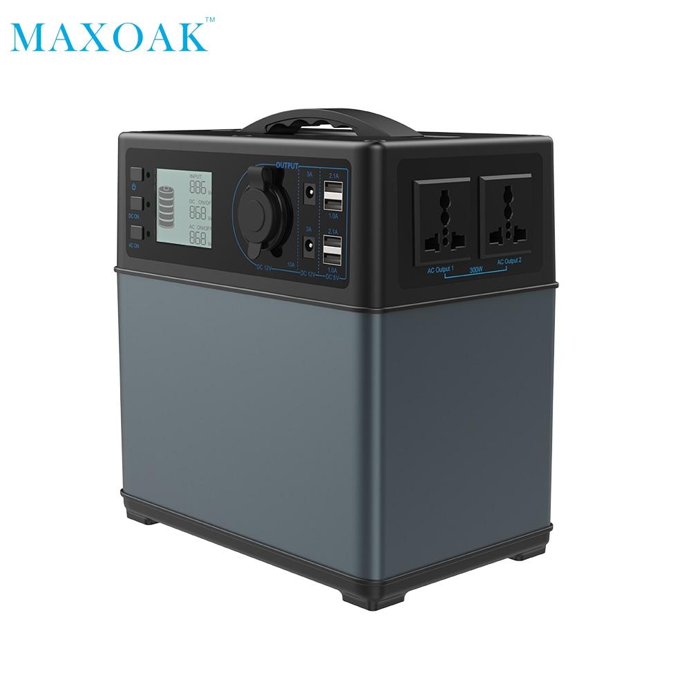 MAXOAK solar power bank charger 400Wh powerbank solar Power Source Generator li-ion Power Supply for
