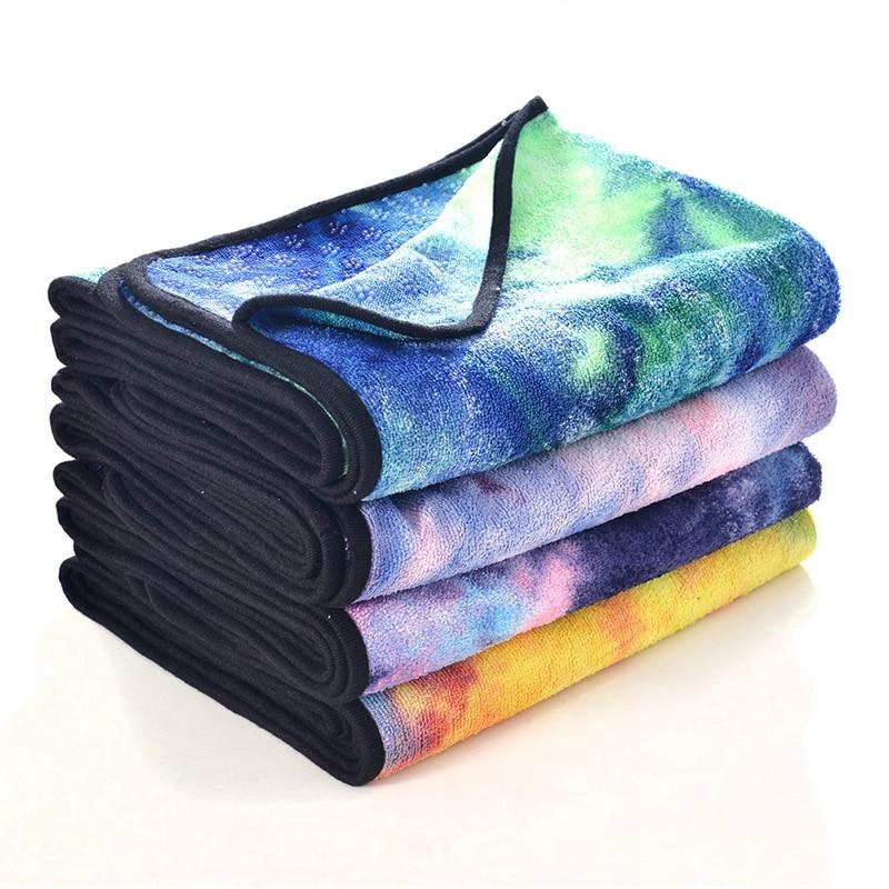 Estera de yoga almohadilla de playa de fibra Superfina de silicona antideslizante alfombra antideslizante tapete para yoga con estampado rectangular manta de yoga BDF99
