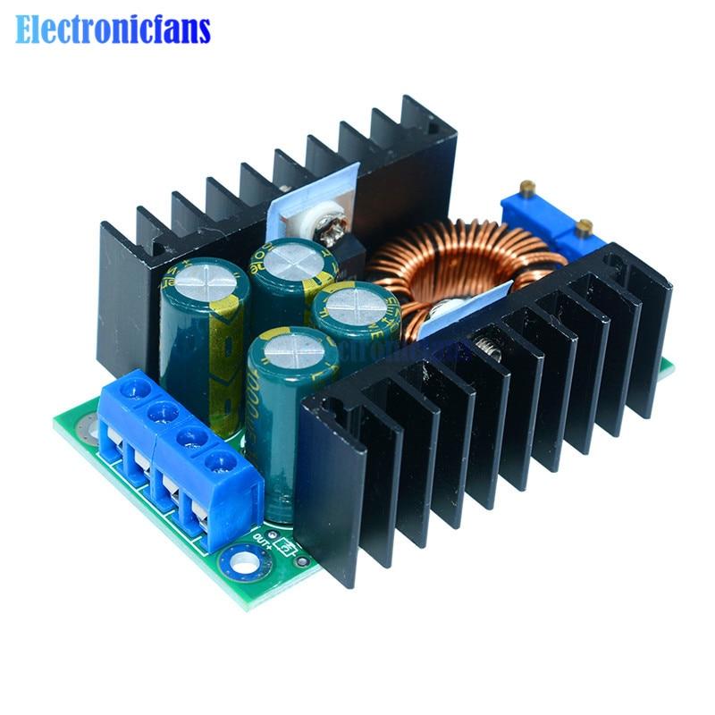 DC-DC 0,2-9A 300W convertidor Buck de reducción XL4016 ajustable 5-40V a 1,2-35 V módulo de fuente de alimentación Controlador LED para Arduino