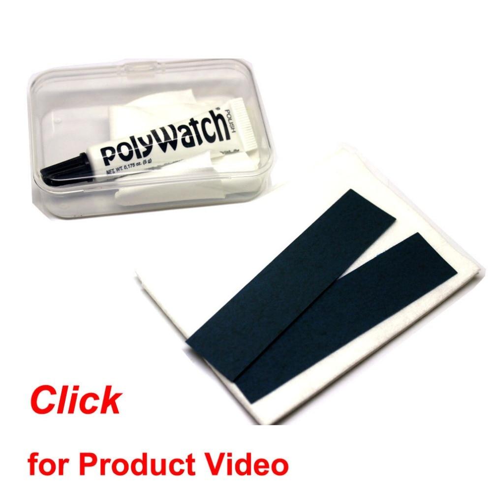 Funda de plástico acrílico para reloj de Alemania PolyWatch, crema para eliminar arañazos profundos para Swatch, SUUNTO, gafas de natación de resina